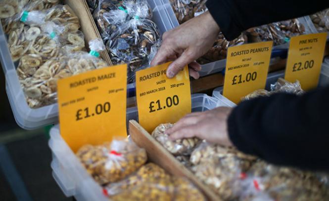 Розничные цены в Великобритании в августе выросли впервые за 5 лет
