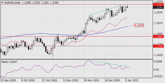 Прогноз по EUR/USD на 6 января 2021 года