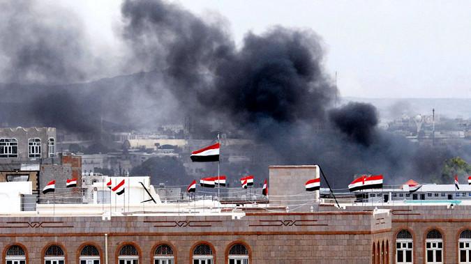 Саудовская Аравия нанесла ответный удар по столице Йемена