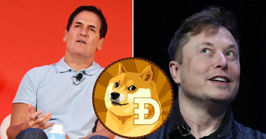 Цены на Dogecoin сегодня снова взлетели ракетой вверх после твитов одиозных миллиардеров Маска и Кьюбана: Илон Маск считает