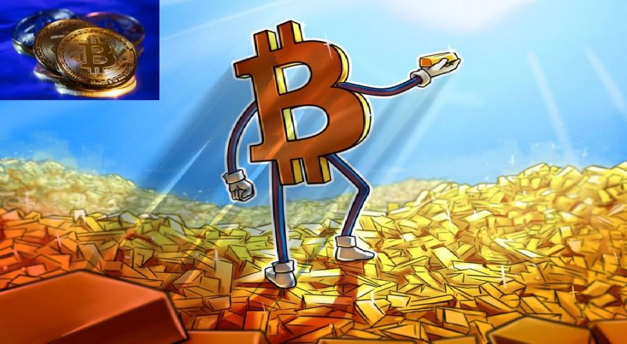 Биткоин конкурирует с золотом
