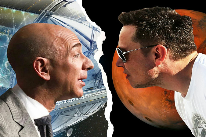 Джефф Безос и Илон Маск - битва за космос