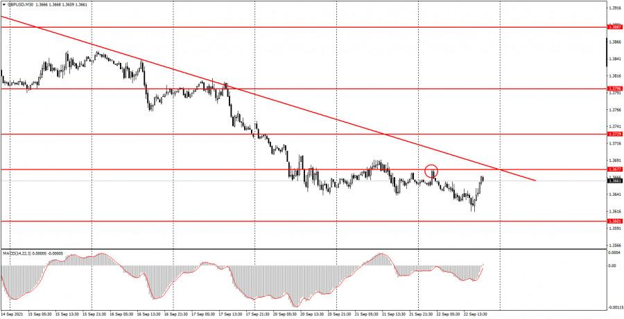 Как торговать валютную пару GBP/USD 23 сентября? Простые советы для новичков.
