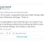 Илон Маск: я покупаю биткоин, эфир и Dogecoin. Председатель SEC Гэри Генслер нацелен на регулирование криптоиндустрии